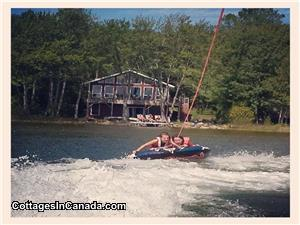 Miller Lake is perfect for Water Sports you can see in front of our Cottage