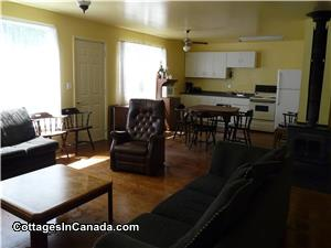large open living/dining area in Cottage #2 - sleeps 8