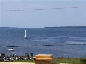 Shediac Area Chalet Rental 30 mtrs private beach, where you can anchor your watercraft within view