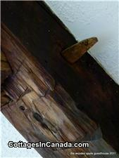 Original Wooden Beams and Pegs