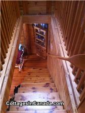 Hand crafted pine stair case