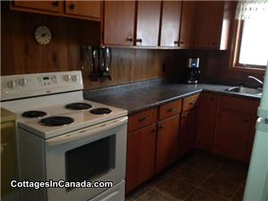 Fully equiped kitchen with microwave, dishwasher,fridge,stove and a new counter, sink and faucets