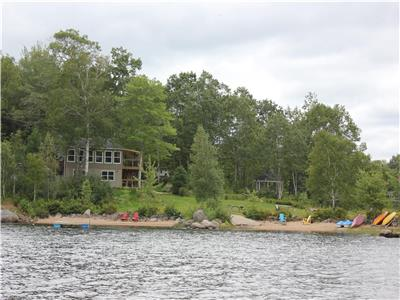Leaning Birch Point Lake House