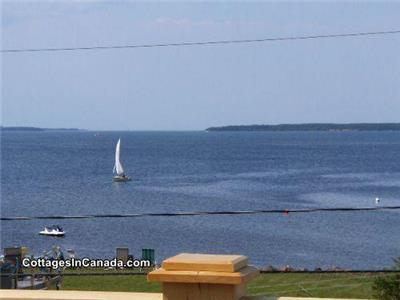 Shediac Area Chalet Rental 30 meters to private beach and anchor your watercraft within view