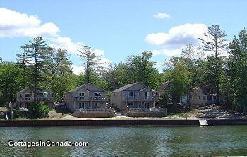 Wasaga River Resort # 1 front de mer de 1 � 6 villas de bdrm, week-ends quotidiennes hebdomadaires a