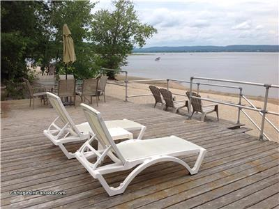 Constance Bay Waterfront 4 Season Cottage on Private Sandy Beach on Ottawa River