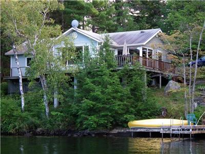 Treetops Cottage on Muldrew Lake, Muskoka - comfortable family cottage surrounded by natural beauty.