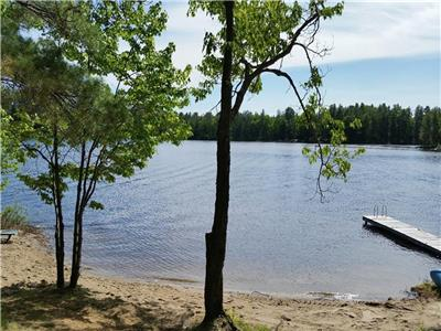 Beautiful Loon Lake Lakefront Cottage Rental - September Fall weekends open!  Book now!