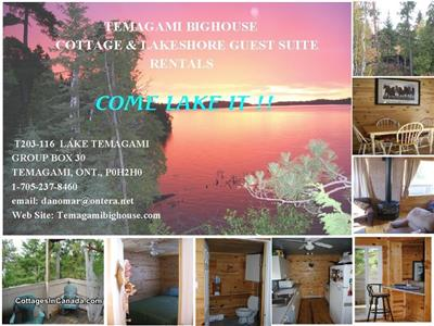 Lake Temagami Cottage and Suite Rentals(Hub Area)