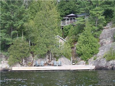 Waterfront Cottage For Sale - Western Exposure - 2 hrs. N of Toronto, 2 bedroom + Water front bunkie