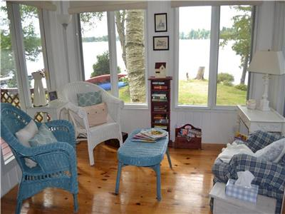 Lake Chebogan Crystal Falls Cottage for Rent