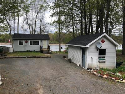 Large family cottage on Crowe River in Marmora. Easy access to Crowe Lake.