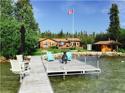 1,600 Sq Ft. Winterized Waterfront Home at Clearwater Lake on Pioneer Bay