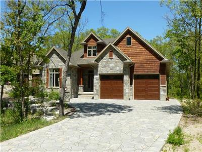 Beautiful custom built home in the serene location of Pinery Bluffs, near Grand Bend Ontario