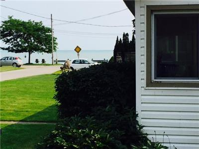 Spectacular view of Lake Erie  from the sunroom :  port stanley