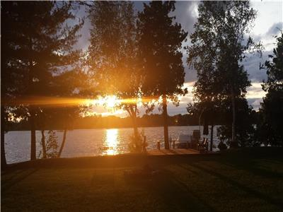 Golden Sunset on pristine Bass Lake, Central to Perth, Westport & Smiths Falls