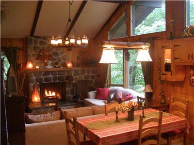 Luxuous Swiss Chalet for renting at Sainte-Agathe-des-monts
