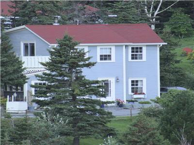 Blue House, Blue House Cottage and Gardens: Superb Oceanfront Property Near St. John's, Newfoundland