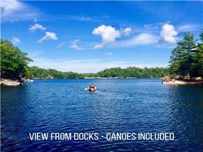 New Listing! Private Muskoka Lakefront Cottage Rental on Go Home Lake near Bala