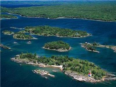 Private Georgian Bay Island near Kilbear with stunning open water westerly views