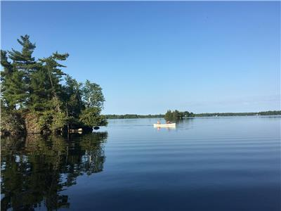 Rustic Family Log Haven on beautifull Sharbot Lake  with 99 Islands,36 miles shoreline,treed lot