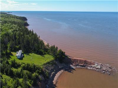 Secluded Oceanfront Cottage with 200ft beach frontage & 2+ acres (1144 Smith Point Rd, Wallace, NS)