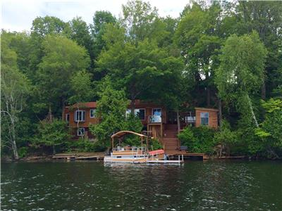 Beautiful, 3- 4 season cottage on Clayton Lake For Sale. By appointment only.