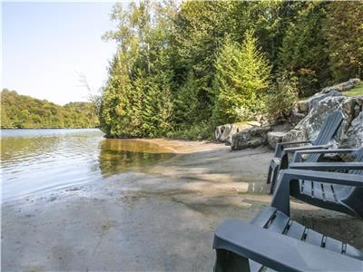 Beautiful cottage with access to the LAC LONG (The LOG HOME)