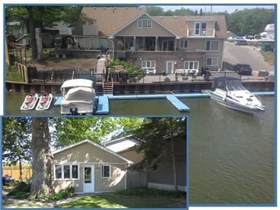 WASAGA BEACH/WATER FRONT COTTAGE/and 40' trailer PROMS AND LARGE GROUPS 16 persons