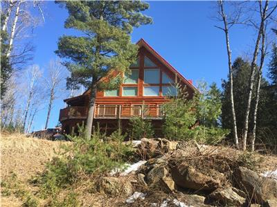Renovated Log home, waterfront River Joseph, Aumond, QC, 1 - 1/2 story, and walkout basement