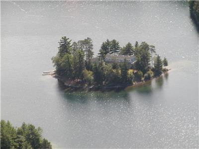 Picturesque PRIVATE Island with Cabin and Lodge located in Provincial Park