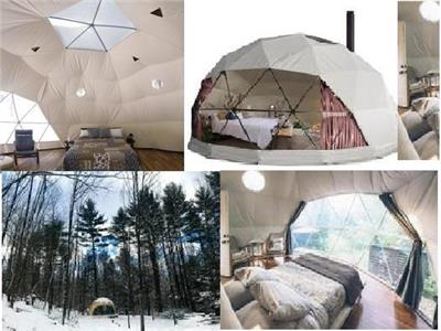 We only have Glamping Domes left. Muskoka, Almaguin 18 and 21 foot diameter