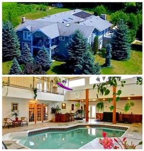 Hilltop Retreat with Indoor Pool, Hot Tub, and Vineyard on 6 Acres