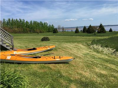 Year round heated cottage.  Amazing views + 10 Acres of Private Waterfront in Fox Harbour