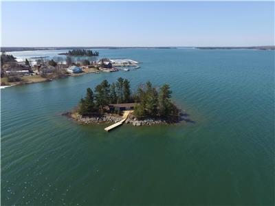 Private Island with Cottage on Lake Huron