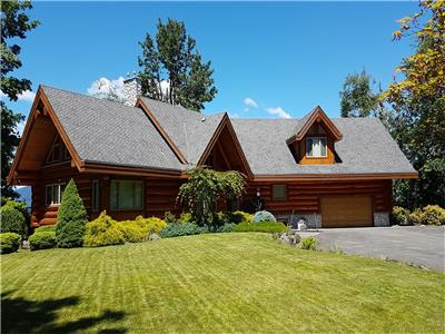 Executive Log Home in the Fraser Valley