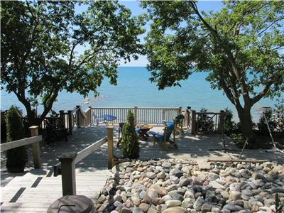 St Joseph Gem, 1.5 acre site with three large decks and large covered porch overlooking lake huron