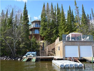 Chateau Racicot Lakefront Cottage for Rent Big Whiteshell Lake