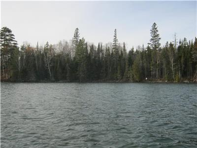 waterfront property, 4.47 acres, 535 waterfrontage, Fairbank Lake, just west of Sudbury
