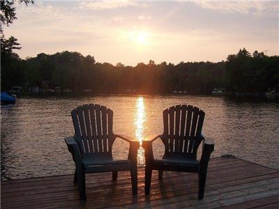 Crystal Lake, cottage rental, waterfront, kinmount, fenelon falls, swimming, fishing, boating,