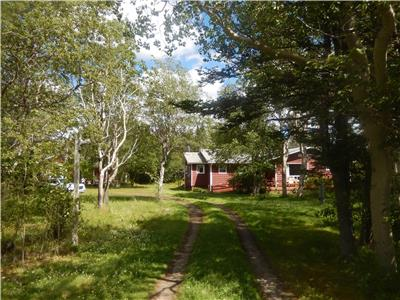 2 COTTAGES located in Windmill Bight, Bonavista North - 2 acres on riverside and near beaches