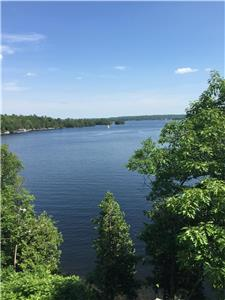 Spectacular view of the lake, 2 Bdrm, waterfront property on Stoney Lake.