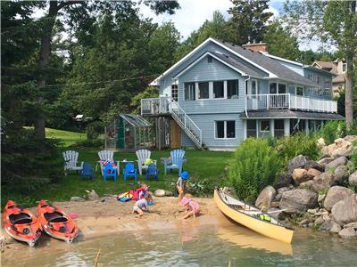 Large, beautiful, family-friendly waterfront cottage on scenic Georgian Bay - August 2019 rental