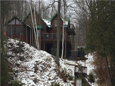 Beautiful year-round waterfront home, in Bellows Bay on Big Rideau Lake