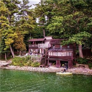 Treetops Cottage Rental. Luxury on the waterfront, best views in Ontario, 10 people+, kayaks