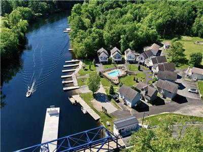 Muskoka Villa #1 at Forest Glen Resort. Waterfront (Trent-Severn Waterway) in Severn Bridge, ON.