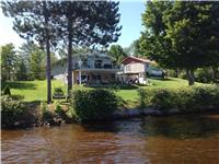OTTAWA RIVER HOUSE, COTTAGE, HUGE GARAGE AND ACREAGE, SAND BEACH